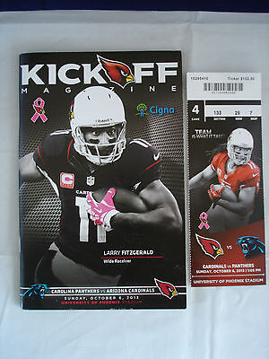 Kick off - Carolina Panthers - Arizona Cardinals - Oct 6th 2013 - Ticket
