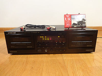 Pioneer CT-W450R Dual Cassette Deck Auto-Reverse HX-PRO 1991 Japan TESTED 100%