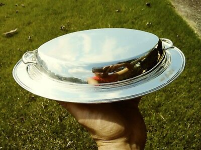 Weidlich Sterling Silver Serving Platter with Lid 437 GRAMS!