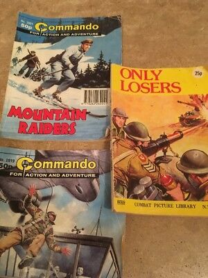 Commando Comics Job Lot - No's 2931 Mountain Raiders & 2919 Alberts War + Combat