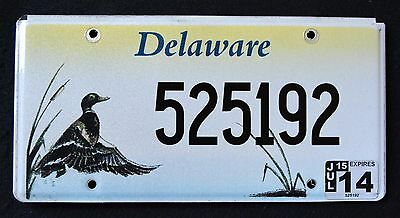 "DELAWARE "" WILDLIFE DUCK - BIRD "" 2014 DE Specialty License Plate"