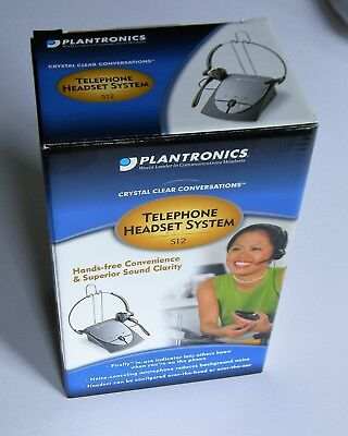"""""""NEW in BOX, SEALED"""" Plantronics S12 Corded Telephone Headset System FREE SHIP!!"""