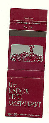 Matchbook Cover Kapok Tree Restaurant Florida