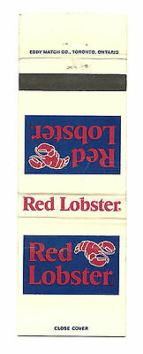 Matchbook Cover Red Lobster Seafood Restaurant Ontario Canada