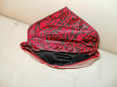 Mk.* Brand New ~ Red Envelope Clutch ~ Fully Lined With Animal Print*