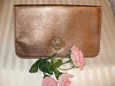 MK * ELEGANT COSMETIC POUCH in Golden Brown colour, fully lined, great as evenin