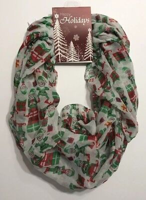 Elf Infinity Scarf Christmas Holiday One Size Polyester