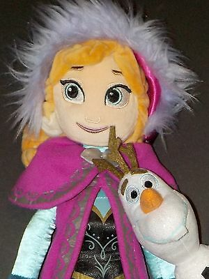 Disney Frozen Anna and Olaf Plush Dolls