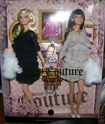 2008 Juicy Couture Beverly Hills G & P Barbie Doll MIMB Gold Label Gift Set