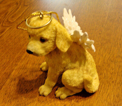 Yellow Labrador Retriever Angel Christmas CeramicTree Ornament-GREAT 4 Lab Lover