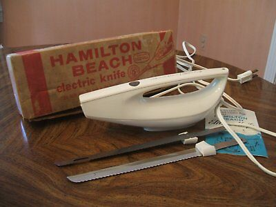 Vintage Hamilton Beach Scovill Electric Knife Model # 275 White