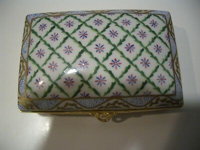 Vintage Signed And Numbered Tiffany & Co. Private Stock Hand-Painted Trinket Box