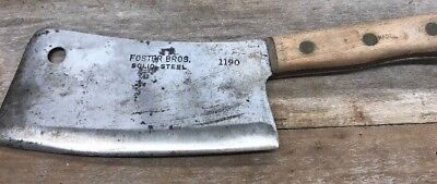Vintage Foster Bros Solid Steel Cleaver 1190