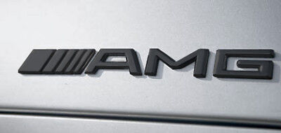 Mercedes AMG Matt Black Boot Badge. For C63 E63, A-Class. FREE DELIVERY
