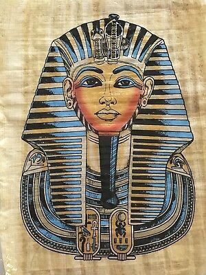 Egyptian Hand-painted Papyrus King Tut.