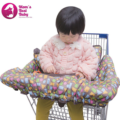 Deluxe Grocery Shopping Cart and High Chair Cover - Unisex - New Easy Fold Desig