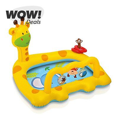 Intex Smiley Giraffe Baby Pool Inflatable Kids Swimming Wading Kiddie Pool