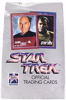 NEW STAR TREK TRADING CARDS Factory Sealed BOX Of 36 Packs 1991 Unopened VTG 90s
