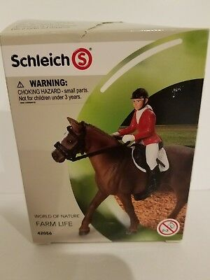 Schleich Farm Life 42096 -Show Jumping Set New; incl. Bridle, Eng. saddle, rider
