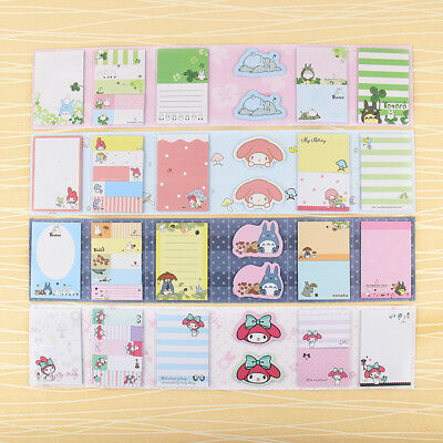 Cute Cartoon Totoro Melody 6 Folding Memo Pads Sticky Notes Bookmark Tap Flag CN