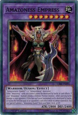 Yugioh CIBR-EN095 Amazoness Empress Common 1st Edition In Stock Now! x3