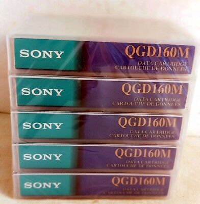 Sony Computer Grade Data Cartridge, Pack of 5, QGD160M, 7GB / 160m / 524' (6408)