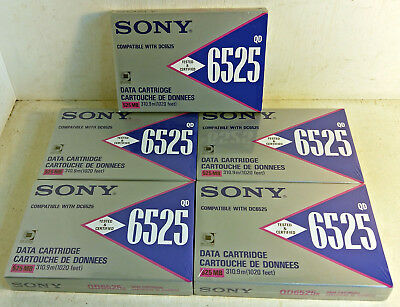 5 Sony Computer Data Cartridges,QD6525, 525 MB, 310.9m (1020 feet) (6409)