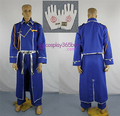 Fullmetal Alchemist Roy Mustang Cosplay Costume include silver collar badge