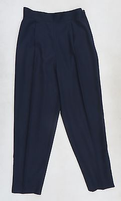 Vintage 80's Next navy wool blend pegged trousers,modern Size 10/12