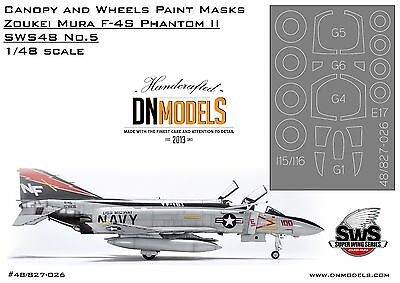 DN Models Canopy 1/48 Wheels Paint Masks F-4S Phantom II Zoukei-Mura SWS48 No.5