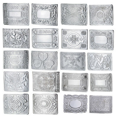 Scottish Kilt Belt Buckles - Celtic 20 Designs Buckles Chrome