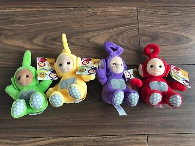 """4 x FULL SET Small Teletubbies Soft Toys. 6"""" BRAND NEW With Tag. Free Postage"""