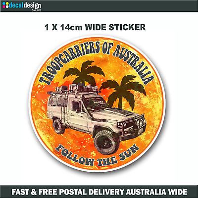 Troopcarriers of Australia 70 Series Official Group Sticker 14cm