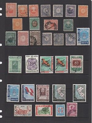 PERU. Selection incl. SG541,539,618 etc. With duplication. Total of 61 stamps.
