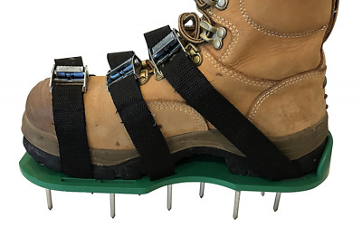 "Lawn Aerator Shoes - Heavy Duty 2"" Spiked Sandals for Aerating Your Lawn or Yard"