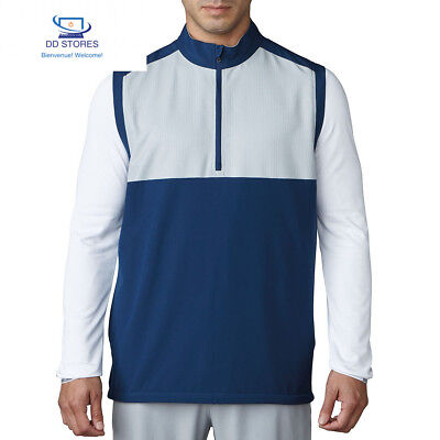 Adidas Competition stretch Wind Vest Veste avec zip de Golf, homme