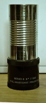 """Unusual S.v.e. Anastigmat Projection Series 0 5"""" Focus Lens With Removable Tube"""