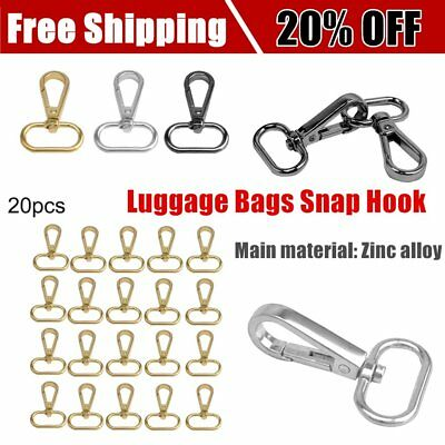 20pcs/lot Luggage Bags Snap Hook 1inch Clamp Buckle Hardware Fastener Hanger P6