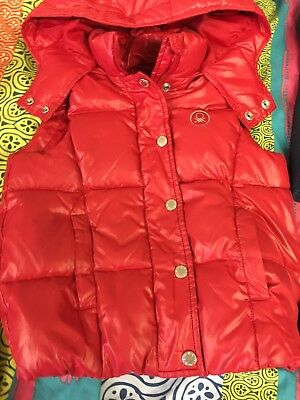 Benetton Body Warmer red feather down