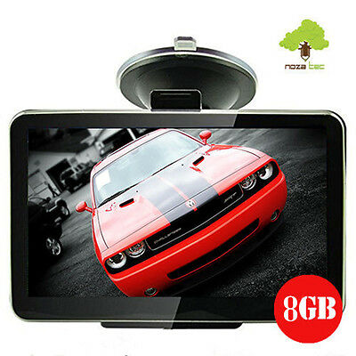 8GB Car GPS SAT Navigation System Touch Screen FM Speed POI UK EU Maps 4.3""
