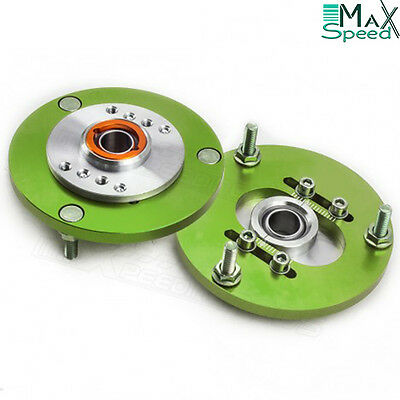 BMW E36 318 320 323 325 328 Front Coilover Top Adjustable Camber Plates GREEN