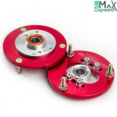 BMW E36 318 320 323 325 328 Front Coilover Top Adjustable Camber Plates RED