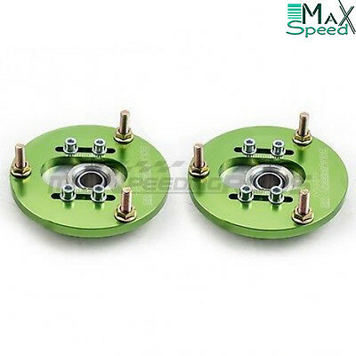BMW E46 316 318 320 323 325 328 Front Coilover Adjustable Camber Plates GREEN
