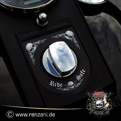 "Harley Dash Cover Sticker Switch Decal ""Ride Safe"" ab 1996 Luftkanalfolie"