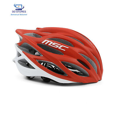 Casque Route inmold S/M Rouge/Blanc 54-57