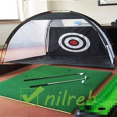 GOLF DRIVING MAT & HITTING IMPACT NET COMBINATION PACK! 3m Net. SUPERIOR VALUE((