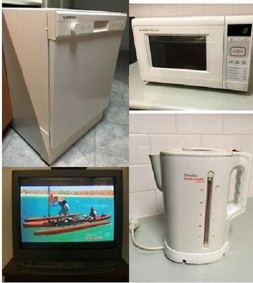 Dishwasher, Microwave, TV w/Set Top Box & Kettle - ALL WORKING!!!