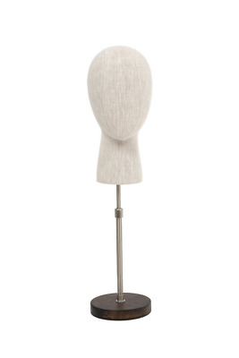 """Newtech Display BFF-HEAD1/LINEN Head Display with White Base, 23"""", Linen Fabric"""