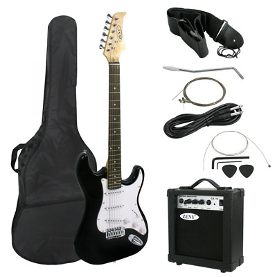 """ZENY 39"""" Full Size Electric Guitar with Amp, Case and Accessories Pack Beginner"""