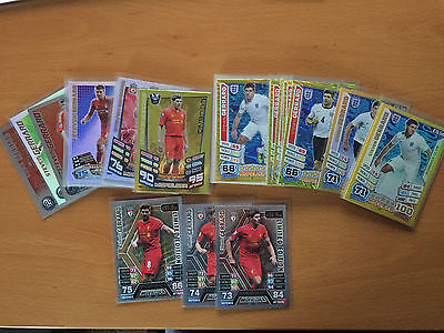 Match Attax Steven Gerrard 100 Club hundred limited rare cards Choose from menu